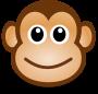 monkey smiling